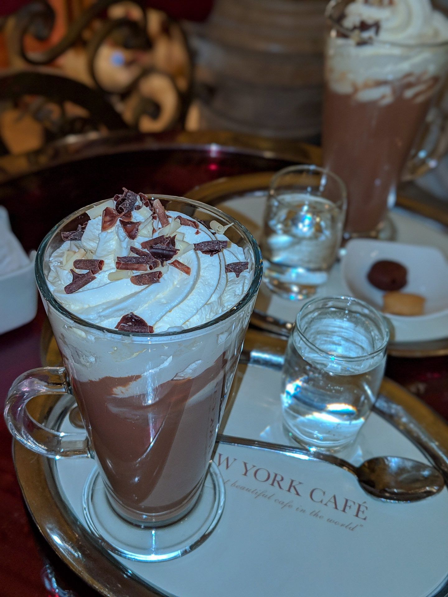 New york cafe budapest hot chocolate review blog robbienroute travel luxury