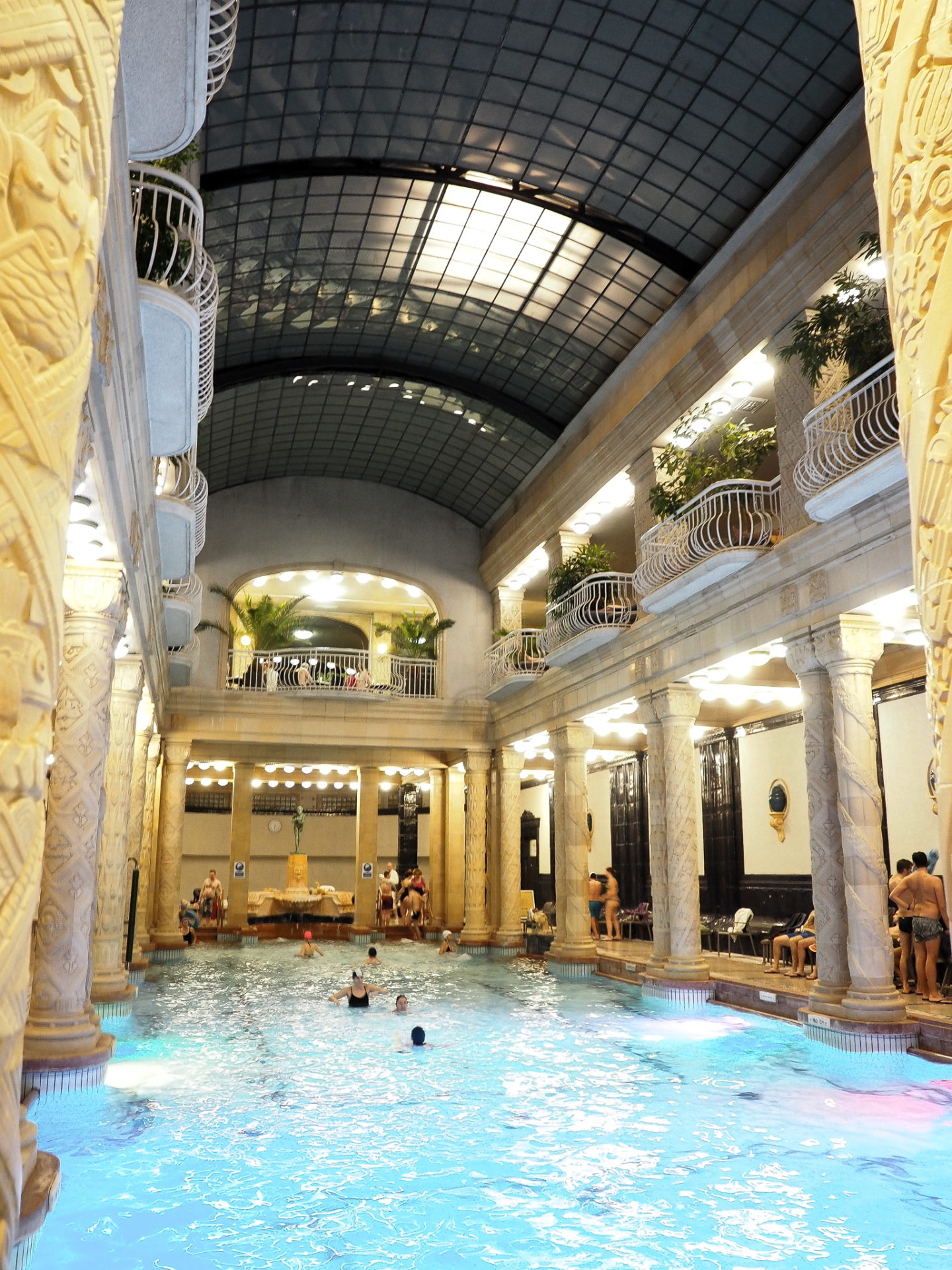 Gellért Spa swimming pool budapest review robbienroute travel luxury blog